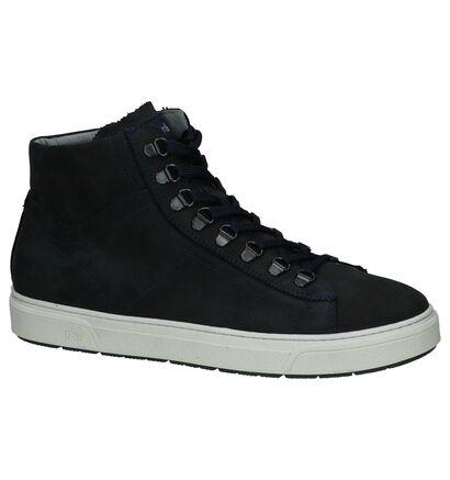 Zwarte Boots met Rits & Veter NeroGiardini, Blauw, pdp