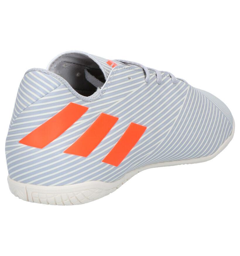 adidas Nemiziz 19.4 Chaussures de Foot en Blanc/Bleu en simili cuir (265402)