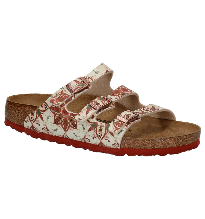Birkenstock Florida Multicolor Slippers in kunstleer (271275)