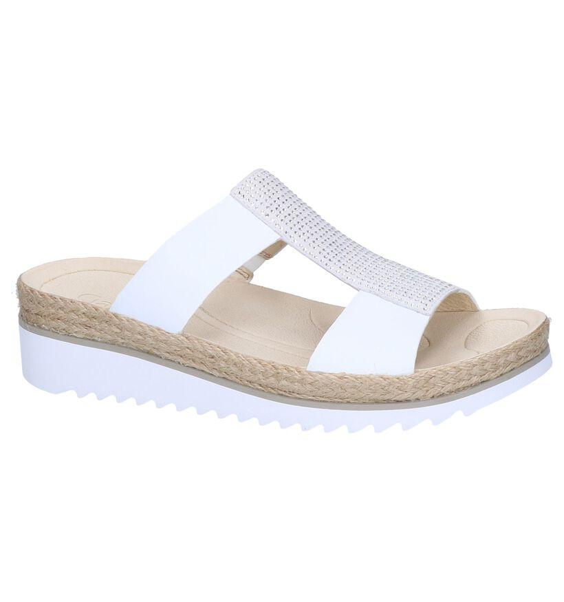 Gabor Best Fitting Nu-pieds à talons en Blanc en cuir (245584)