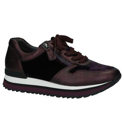 Paarse Geklede Sneakers Gabor Optifit Velours in leer (236213)