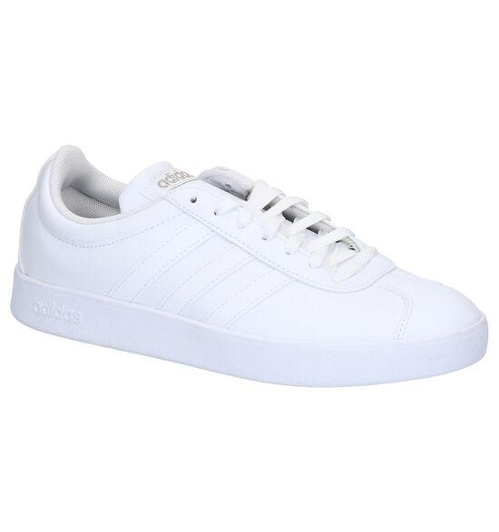 adidas VL Court 2.0 Baskets Basses en Blanc