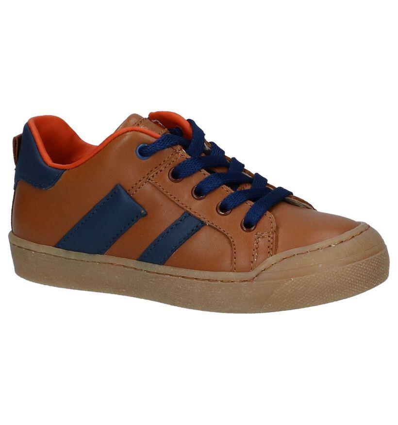 STONES and BONES Chaussures basses en Cognac en cuir (239809)