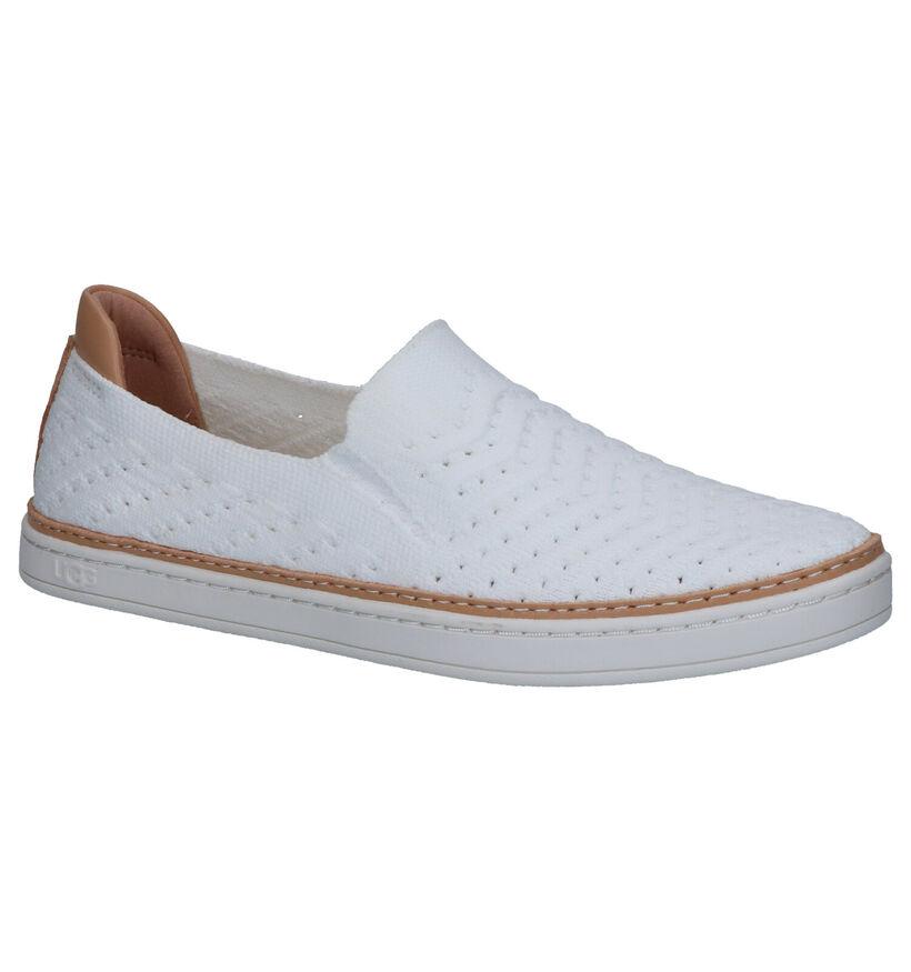 UGG Sammy Chevron Chaussures en Blanc en textile (266816)