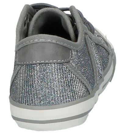 Mustang Zilveren Sneakers in stof (209518)