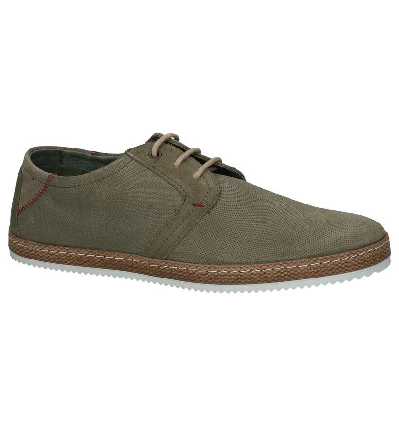 Borgo Sport Chaussures basses en Vert kaki en nubuck (247909)