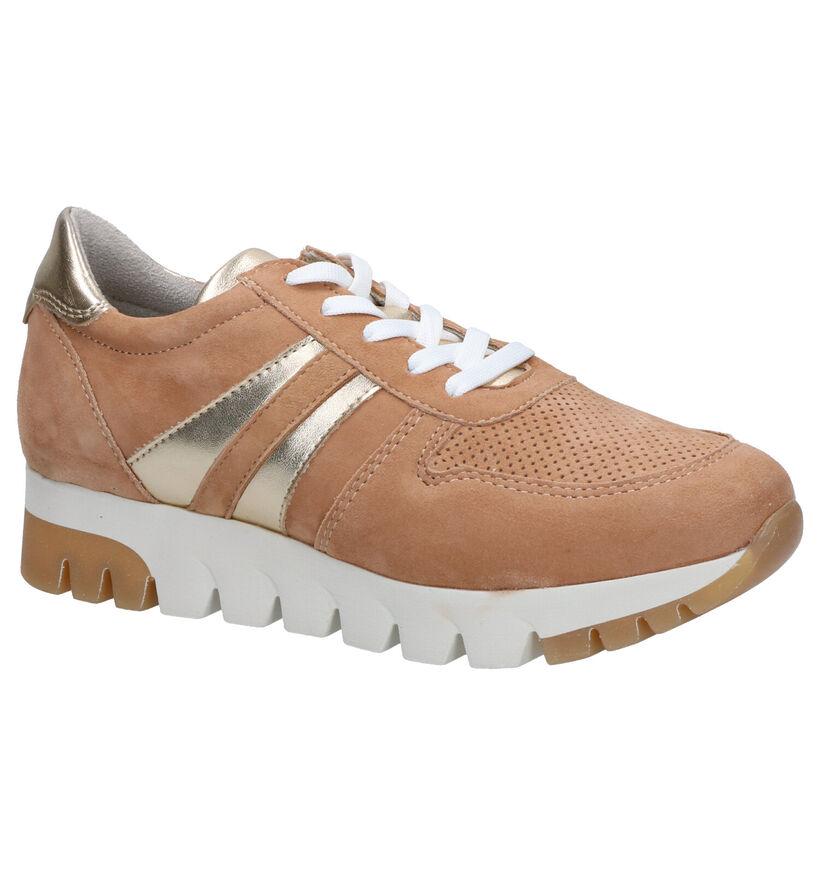 Tamaris Chaussures à lacets en Brun clair en nubuck (270121)