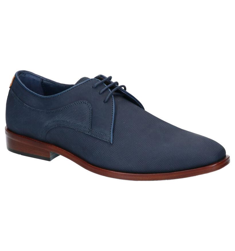 Via Borgo Chaussures habillées en Bleu foncé en cuir (269140)