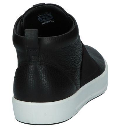 ECCO Soft 8 Zwarte Hoge Sneakers in leer (235745)
