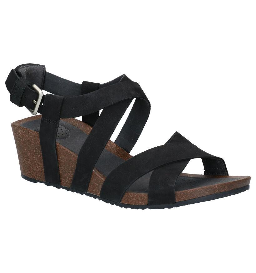 Teva Mahonia Zwarte Sandalen in leer (270620)
