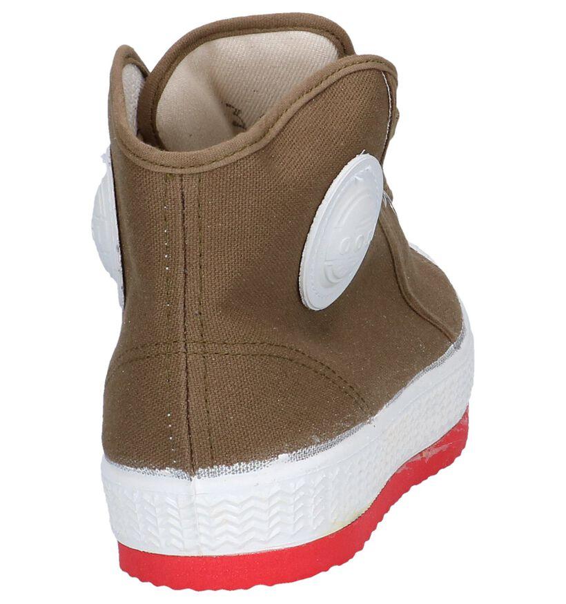 Kaki Sneakers 0051 Barvy in stof (262024)