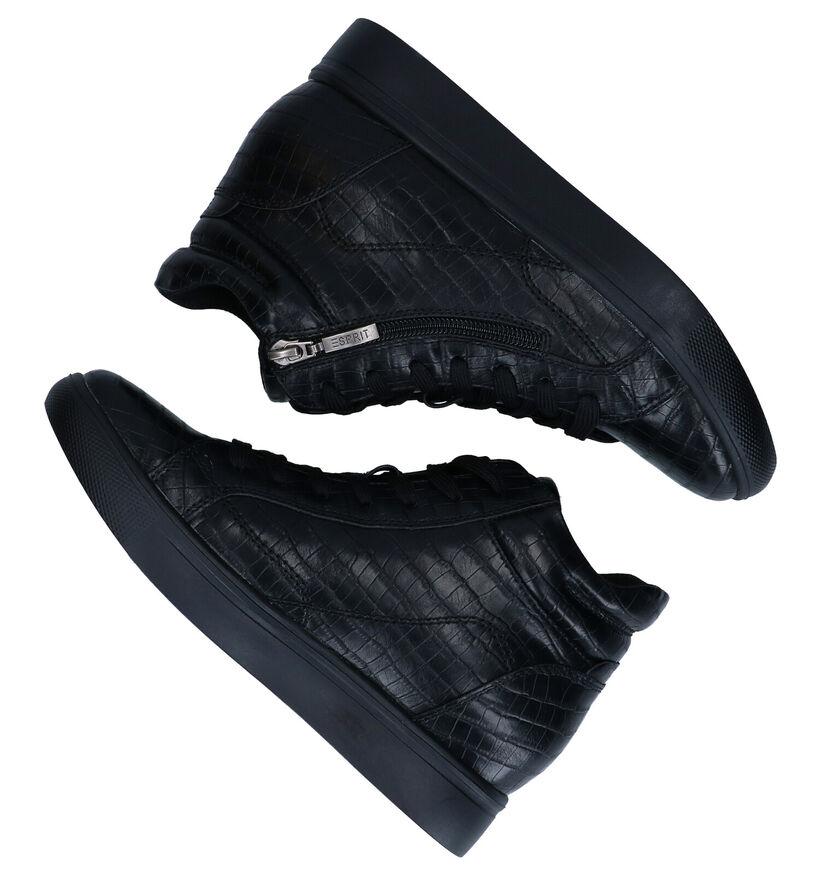 Esprit Granada Zwarte Hoge Sneakers in kunstleer (279622)