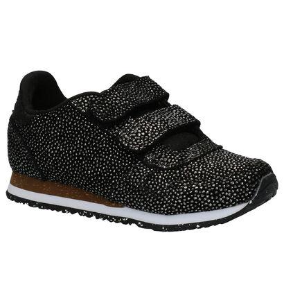 Woden Wonder Sandra Pearl Zwarte Sneakers in daim (259646)