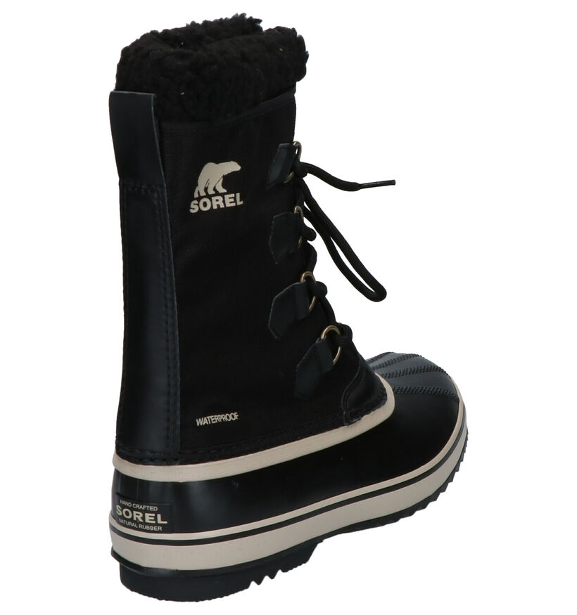 Sorel Pac Nylon Zwarte Snowboots in stof (252852)