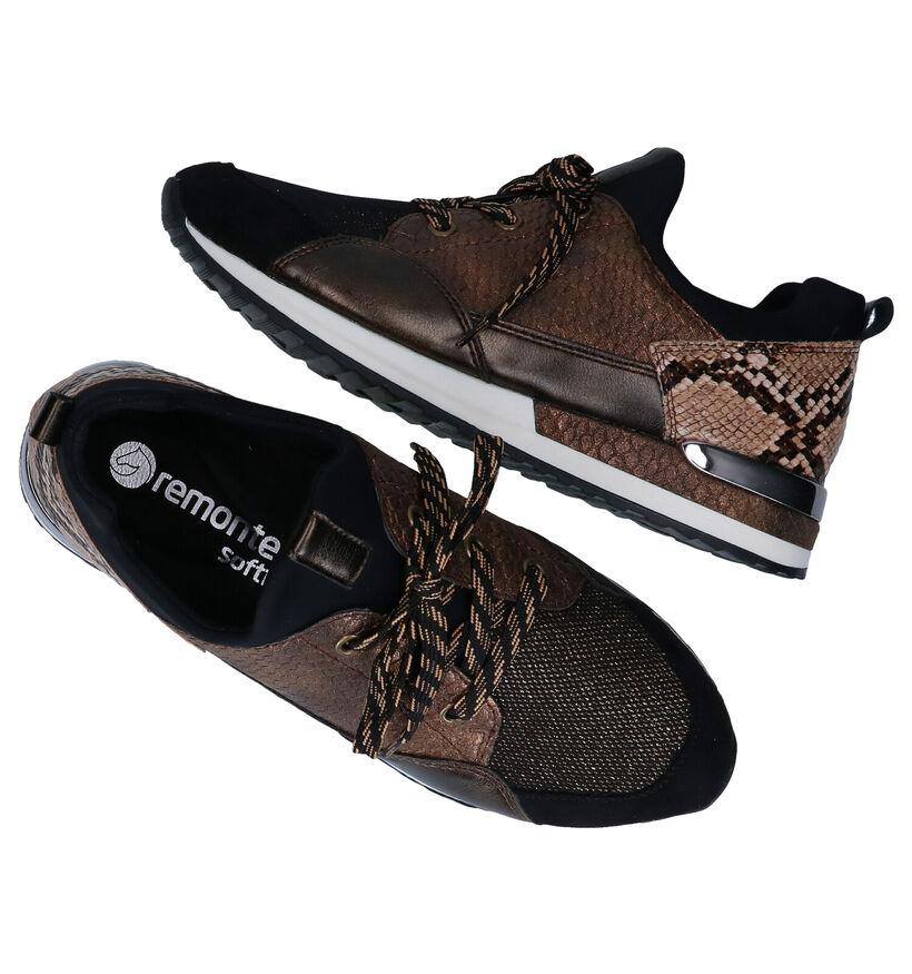 Remonte Chaussures à lacets en Jaune en simili cuir (253744)