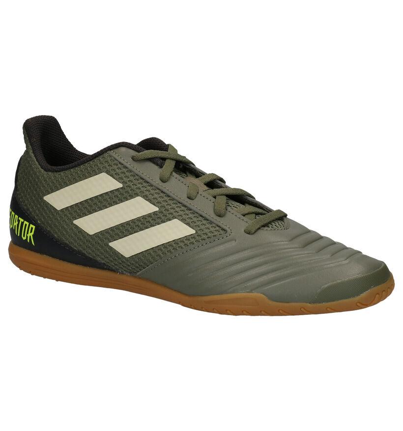 adidas Predator 19.4 Chaussures de foot en Vert kaki en simili cuir (262573)