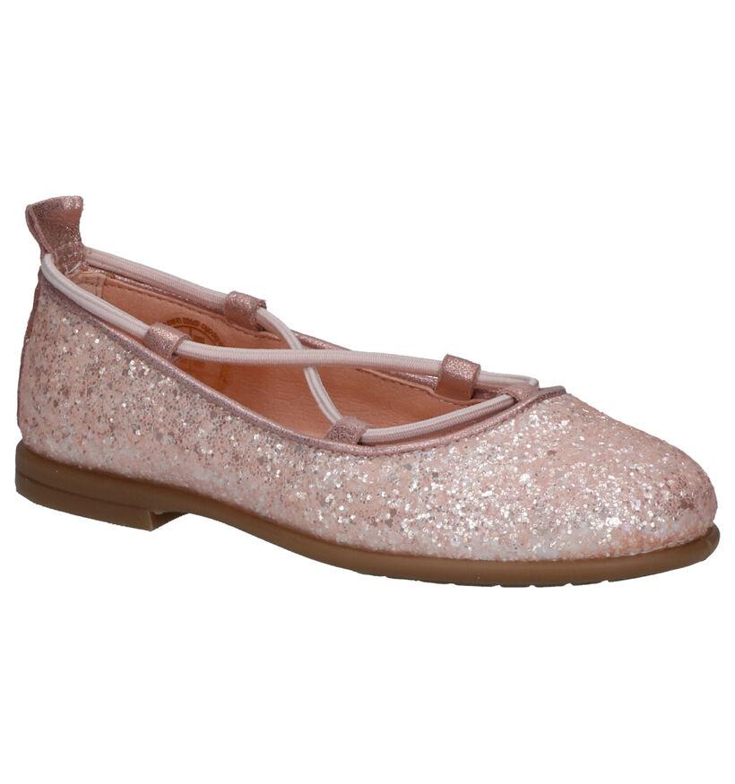 Unisa Seimy Roze Ballerina's in stof (288832)