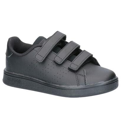 adidas Advantage Zwarte Sneakers in imitatieleer (252541)