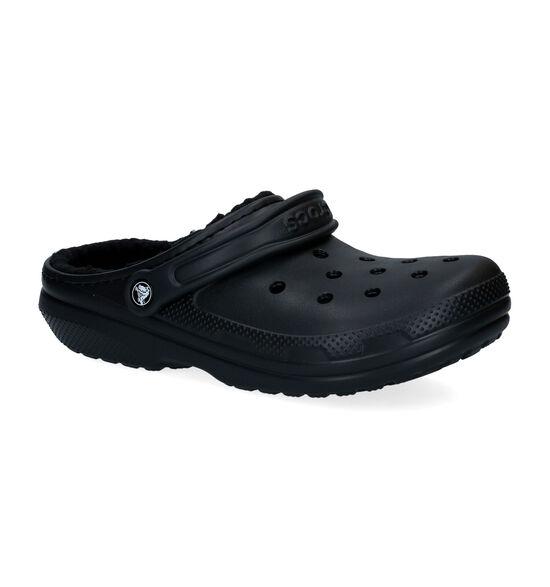 Crocs Classic Lined Clog Zwarte Slippers