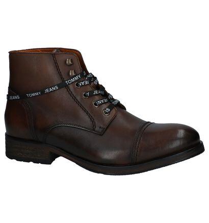 Tommy Hilfiger Chaussures hautes en Brun foncé en cuir (225511)