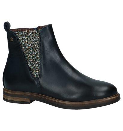 STONES and BONES Chaussures hautes en Bleu foncé en cuir (223396)