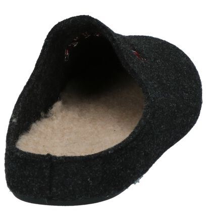 Scapa Donker Grijze Pantoffels in stof (204159)