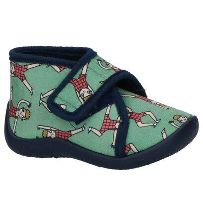 Eva Mouton Pantoufles en Vert en textile (231532)