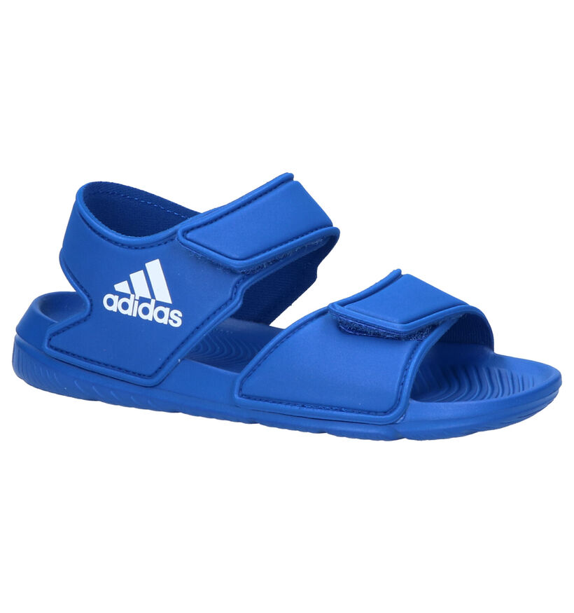 adidas Sandales de bain en Bleu en synthétique (237163)