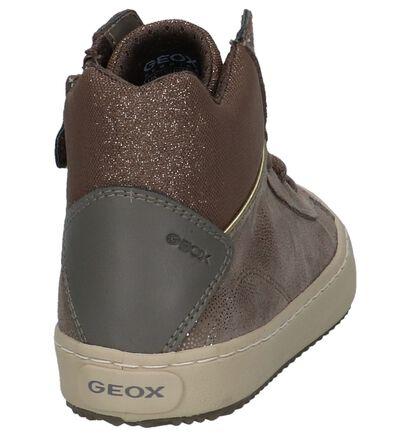 Geox Zwarte Boots met Rits/Veter in kunstleer (223125)