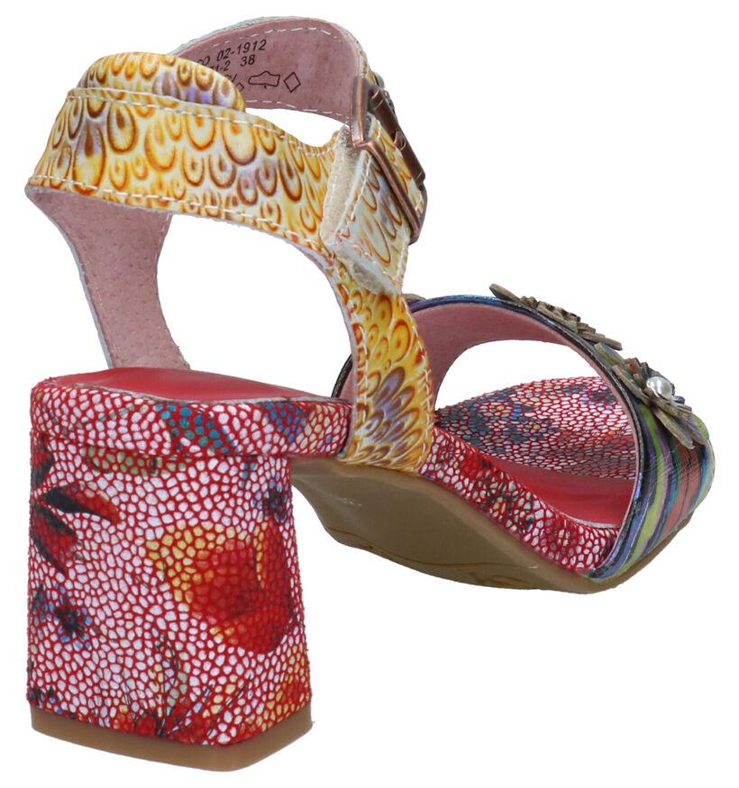 Laura Vita Multicolor Sandalen in leer (275025)