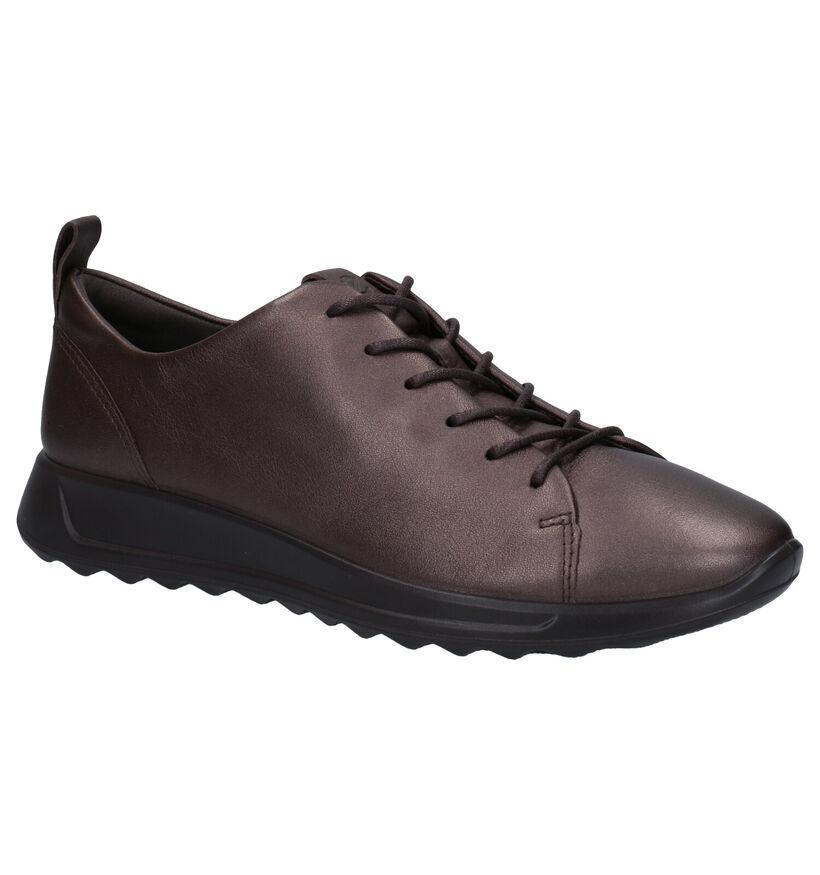 ECCO Flexure Chaussures à Lacets en Bronze en cuir (280983)