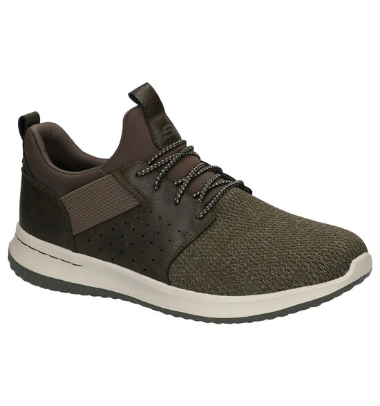 Skechers Kaki Slip-on Sneakers