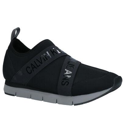 Calvin Klein Tonia Zwarte Slip-on Sneakers in stof (255685)