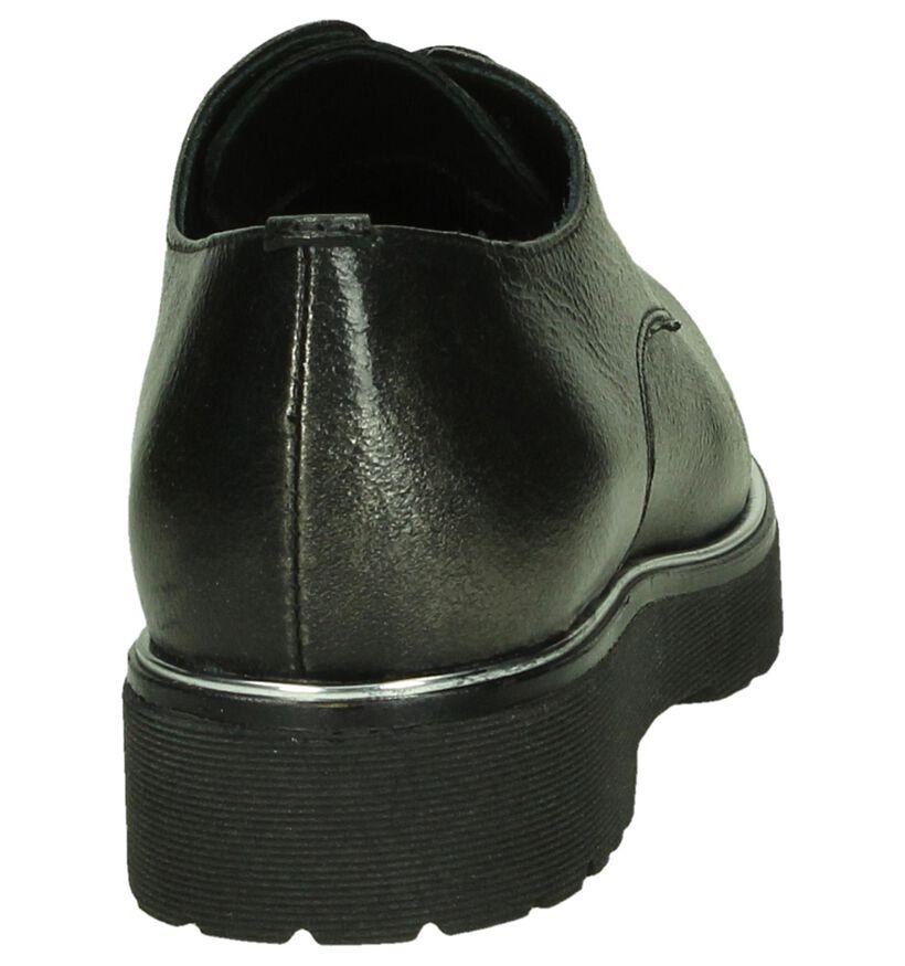 Flair Chaussures à lacets en Gris foncé en cuir (185621)