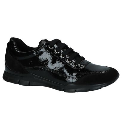 Geox Chaussures à lacets en Noir en cuir (223231)