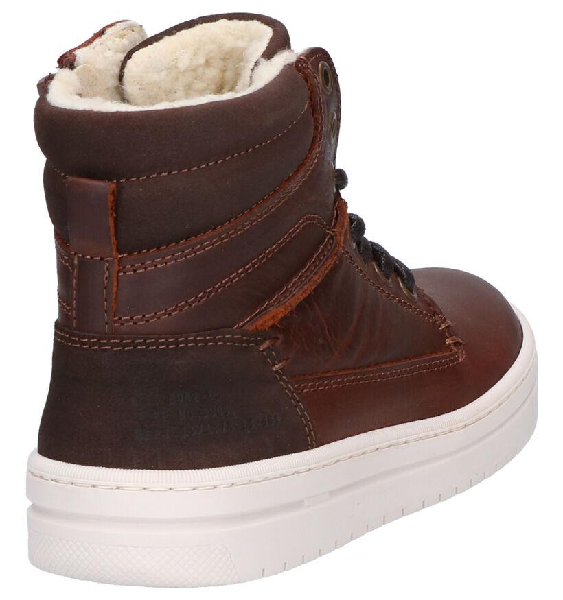 Bullboxer Chaussures hautes en Brun foncé en cuir (259667)