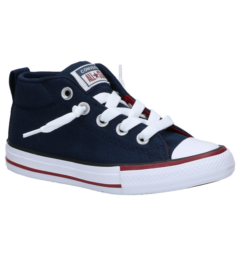 Converse Chuck Taylor AS Street Blauwe Sneakers in stof (266014)