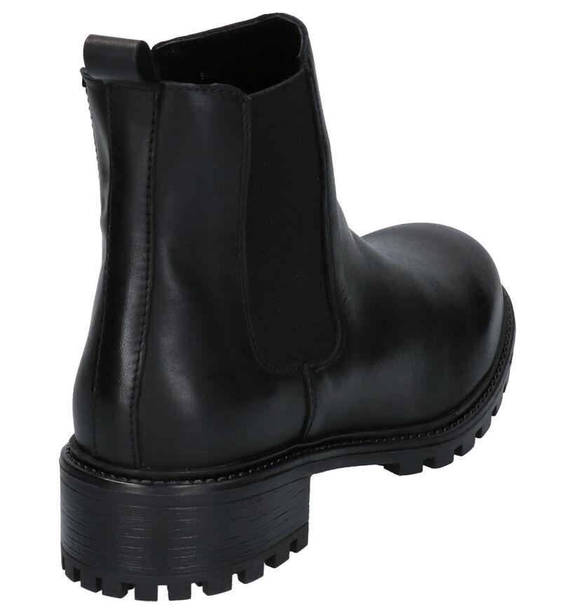 Poelman Zwarte Chelsea Boots in leer (264695)
