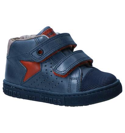Stones and Bones Blauwe Sneakers in leer (255485)