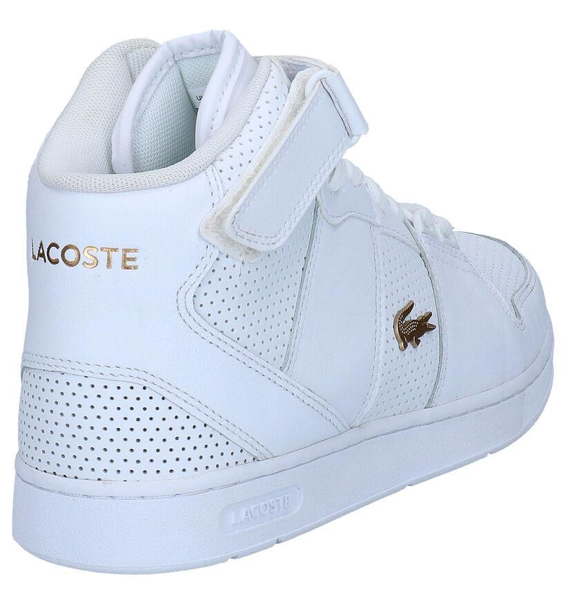 Lacoste Tramline Witte Sneakers in kunstleer (266913)