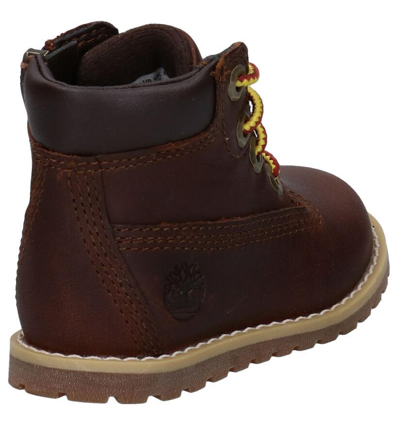 Timberland Pokey Pine Bruine Boots in stof (277725)