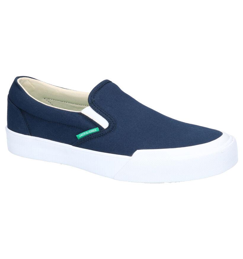 Jack & Jones Orson Blauwe Slip-on Sneakers in stof (269105)