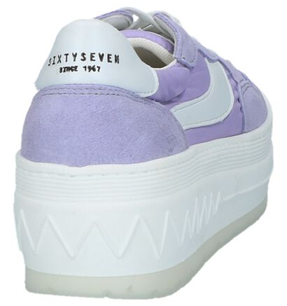 Sixtyseven Baskets basses en Violet clair en textile (235978)