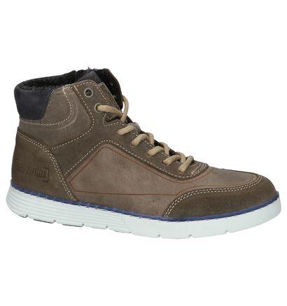 Bullboxer Chaussures hautes en Taupe en cuir (202378)