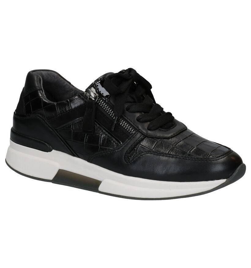 Gabor Rollingsoft Chaussures à Lacets en Noir en cuir (282347)