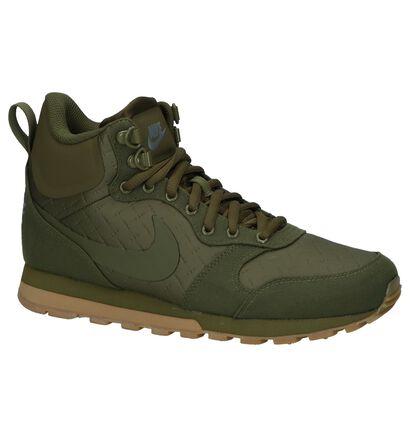 Nike MD Runner Baskets hautes en Vert kaki en simili cuir (233336)
