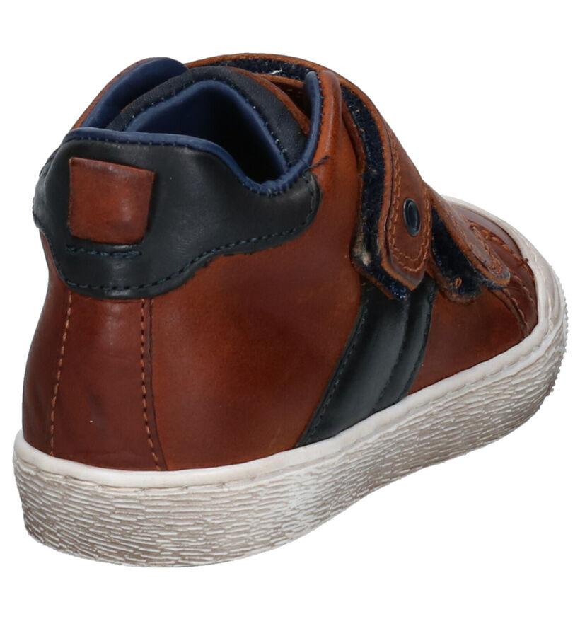 STONES and BONES Chaussures hautes en Cognac en cuir (259878)
