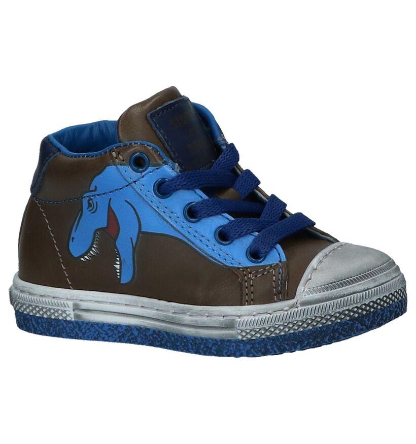 STONES and BONES Chaussures hautes en Vert foncé en cuir (223414)