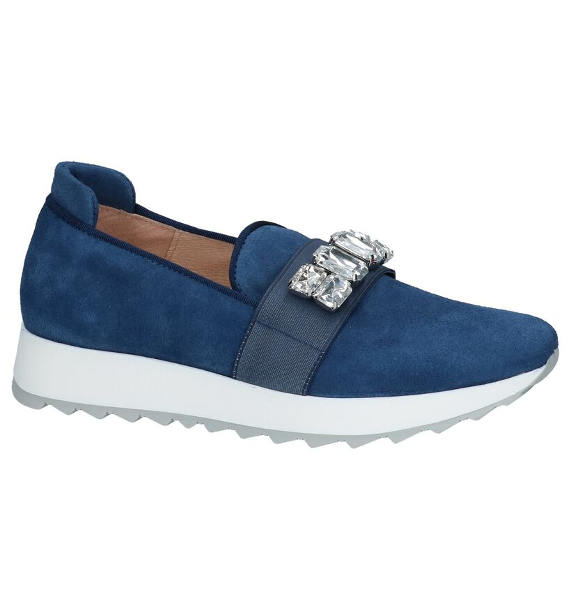 Loafers Donkerblauw Humat Gloria Piedras in daim (221379)