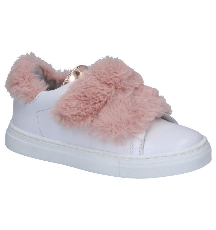 K3 Witte Sneakers met Velcro's in kunstleer (254999)